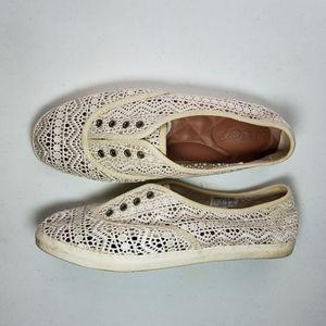 Reef Lace Sneaker Ivory Antique Cream Dew Mist 7.5